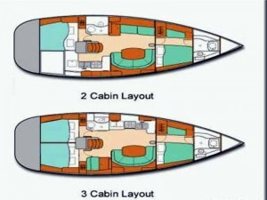 Oceanis 411 Clipper layout