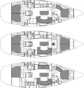 Oceanis 461 layout