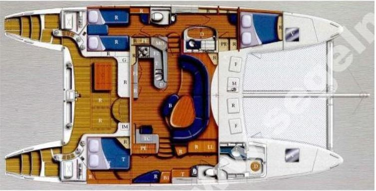 Catana 522 layout